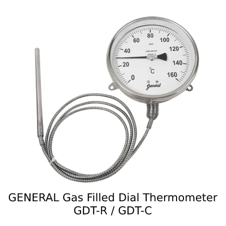 General Gas Filled Dial Thermometer GDT-R