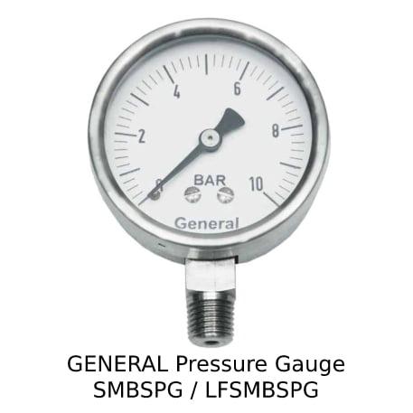 GENERAL Pressure Gauge SMBSPG LFSMBSPG