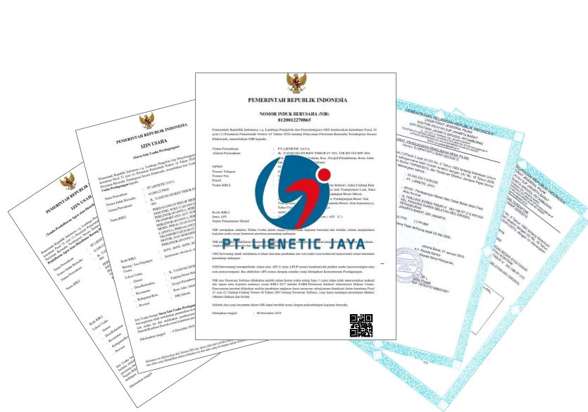 Dokumen Legalitas PT. Lienetic Jaya distributor pressure gauge